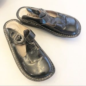 Alegria Patent Leather Mary Jane Slide Shoes